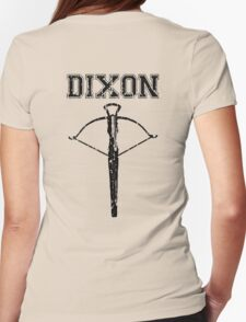 Daryl Dixon Crossbow (black) Womens Fitted T-Shirt