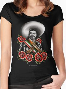 Emiliano Zapata Portrait Women's Fitted Scoop T-Shirt