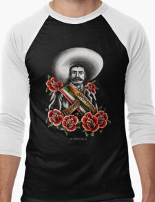 Emiliano Zapata Portrait Men's Baseball ¾ T-Shirt