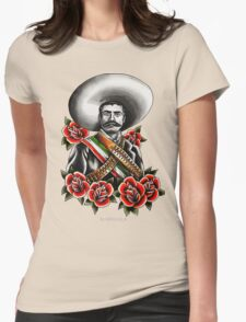 Emiliano Zapata Portrait Womens Fitted T-Shirt