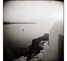{ Sinking Sun Santorini } Photographic Print