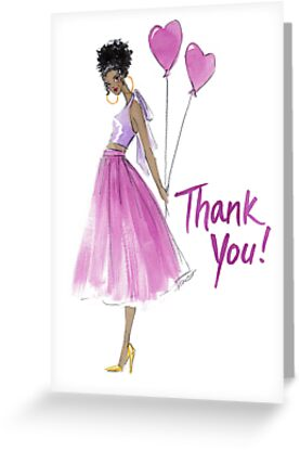 """""""This Heart's For You"""" Thank You Card by Veronica Miller Jamison"""