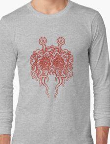 Flying Spaghetti Monster (tomato sauce) Long Sleeve T-Shirt