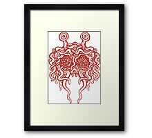 Flying Spaghetti Monster (tomato sauce) Framed Print