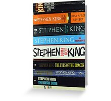 Stephen King PB1 Greeting Card