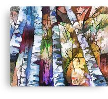 White Trees Canvas Print