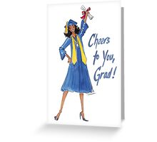 """Cheers to You!"" Graduation Card Greeting Card"
