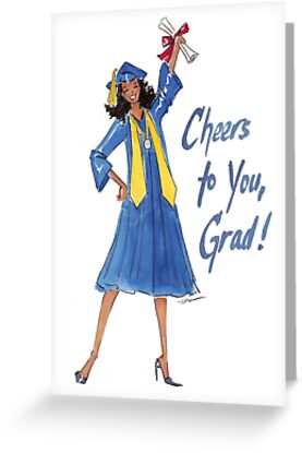 """""""Cheers to You!"""" Graduation Card by veronicamarche"""