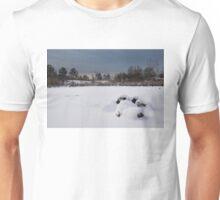 Fluffy Snowdrifts and Ominous, Threatening Skies  Unisex T-Shirt