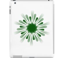 A green 10 pointed shape iPad Case/Skin