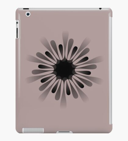 A black 10 pointed shape iPad Case/Skin