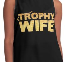 trophy wife in gold foil (image) Contrast Tank