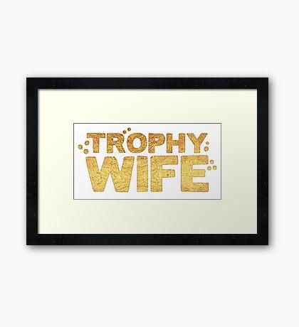 trophy wife in gold foil (image) Framed Print