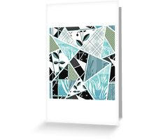 Patchwork seamless pattern checkered ornament retro design background Greeting Card