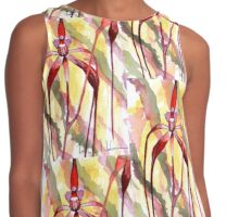 Crimson Spider Orchid Contrast Tank
