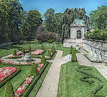 The Sunken Gardens At the Elms by Jane Neill-Hancock