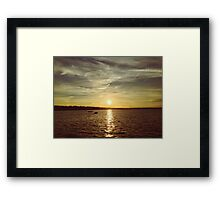 A beautiful summer sunset by the lake Framed Print