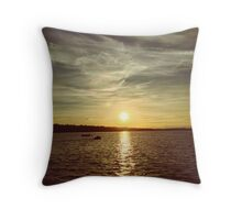 A beautiful summer sunset by the lake Throw Pillow