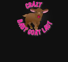 Crazy Goat lady (cute brown baby goat) Womens Fitted T-Shirt