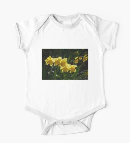 Sunny, Windy Spring Garden with Daffodils One Piece - Short Sleeve