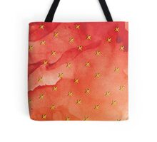 Shameless Yellow Flower On Red Watercolor Background Tote Bag