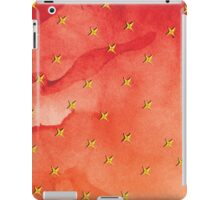 Shameless Yellow Flower On Red Watercolor Background iPad Case/Skin