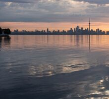 Early Morning Reflections - Lake Ontario and Downtown Toronto Skyline  Sticker