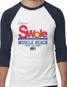California Swole - Muscle Beach Men's Baseball ¾ T-Shirt