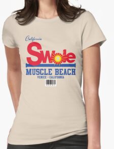 California Swole - Muscle Beach Womens Fitted T-Shirt