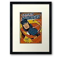 Captain Midnight Comic Cover Framed Print