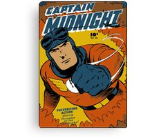 Captain Midnight Comic Cover Canvas Print