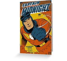 Captain Midnight Comic Cover Greeting Card
