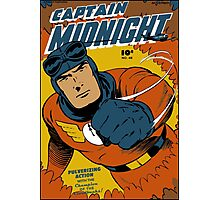 Captain Midnight Comic Cover Photographic Print