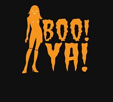 BOO! YA! sexy woman figure Halloween laugh  Womens Fitted T-Shirt