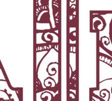 Texas A&M doodle Sticker