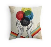 CMYK - the creation of retro Throw Pillow