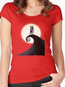 Jack Skellington & Sally Women's Fitted Scoop T-Shirt
