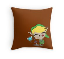 Link-Gir Throw Pillow
