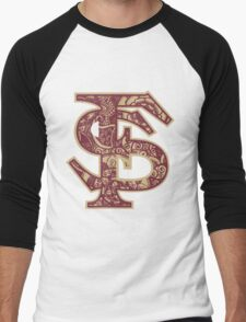 Florida State University doodle Men's Baseball ¾ T-Shirt
