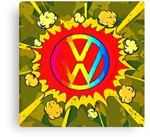 Boom VW Logo Canvas Print
