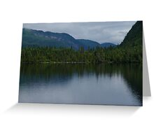 Forecasting Rain - Forest Lake Reflections in Charlevoix, Quebec, Canada Greeting Card