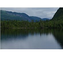 Forecasting Rain - Forest Lake Reflections in Charlevoix, Quebec, Canada Photographic Print