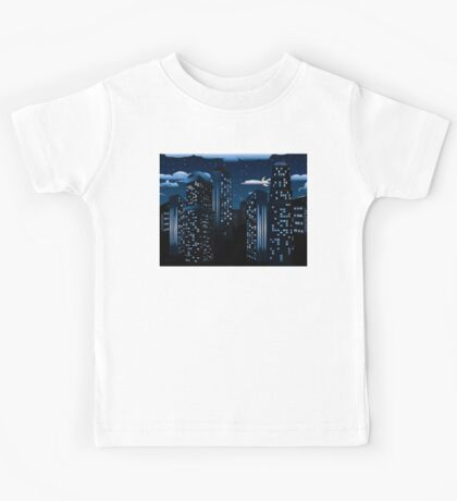 Night Cityscape Background Kids Tee
