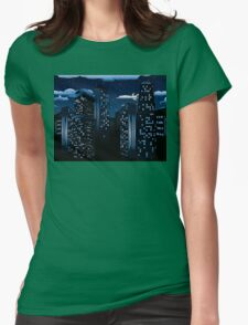 Night Cityscape Background Womens Fitted T-Shirt