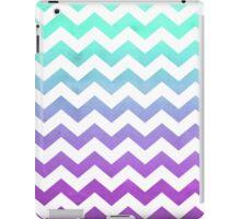 Purple Mint Aqua Ombre Chevron Pattern iPad Case/Skin