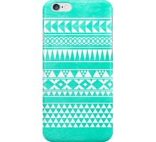 Abstract Geometric Turquoise Mint Teal Urban Tribal Aztec Pattern iPhone Case/Skin