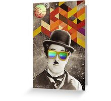 Public Figures Collection -- Chaplin by Elo Greeting Card