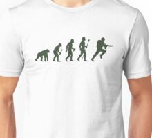 Funny Army Evolution Of Man Unisex T-Shirt