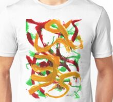 Red Yellow Green Strokes Unisex T-Shirt