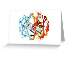 Sailor Lugia and Ho-oh Greeting Card